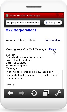 Reply to GoalMail